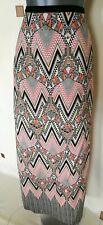 SKIRT 16 44 LARGE L LONG MAXI AZTEC GEO PRINT BOHO QUIRKY STEAMPUNK FESTIVAL