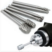 6pcs HSS Routing Router Grinding Bits Burr Milling Cutter for Power Rotary Tools