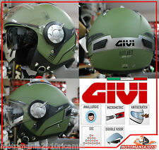 Casco Helmet Jet Givi 11.1 Air Jet Moto Scooter Verde Opaco Green Military XS