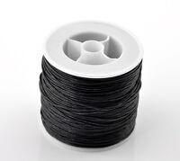 1 Rolle(80m) Schwarz Wax Wachs String/Schnur/Garn für Halskette/Armband 0.5mm