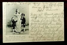 WORDS OF QUEEN LOUISE GERMANY Royalty Postcard 1898 HORDE cancel