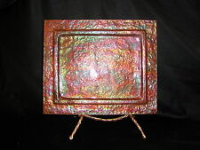 Copper Plate With Stand / Hand Crafted / Rectangle