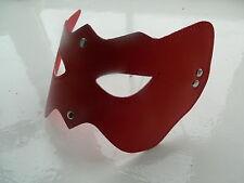 Red Leather Bondage Fetish Ball Party Opera Bat Cat Woman Eye Mask - FREE UK P&P
