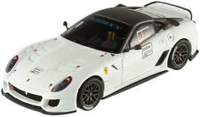 Hot Wheels Elite Ferrari 599XX blanco-gris T6265 1/43