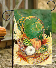 NEW Toland - Indian Corn Centerpiece - Colorful Harvest Fall Autumn Garden Flag