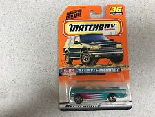 Matchbox Classic Decades 57 Chevy Convertible Turquoise #36 Nip!