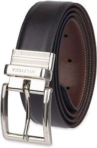 Tommy Hilfiger Men's 32MM Reversible Belt Black Tan