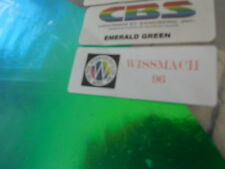 "Dichroic Glass Sheet:CBS 96 COE Emerald Green on Flat Thin Black 3"" Sq"