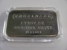 ENGELHARD 1 OZ .999+ FINE SILVER BAR Low Serial # PF 214457 FROSTED BACK