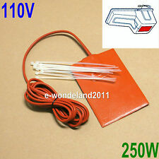 Engine Heater Oil Pan Tank Heater 250 Watt - 110 Volt Pad Heater 3M adhesive