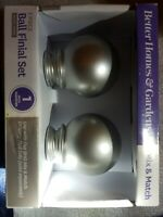 Better Homes And Gardens  Ball Finial Set. Drapery Rod Set ends