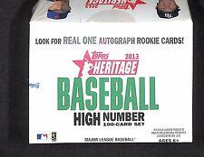 2013 Topps Heritage Baseball Sealed High Number Factory Set