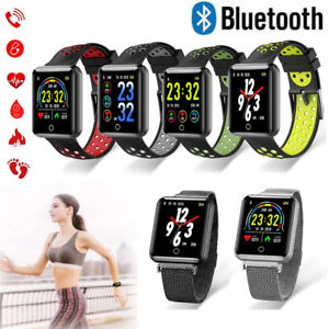 Bluetooth Smart Watch Heart Rate Blood Pressure Monitor Pedometer for Samsung LG