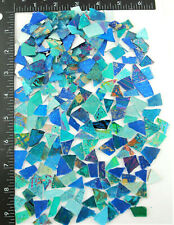 1/2 pound bag of mixed BLUE SCRAPS!   Glass Mosaic Tile by Makena Tile