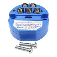 PT100 Thermoelement Temperatursensor Messumformer 0 bis 50 Grad DC 24V Blau
