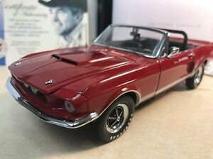 1/24 Franklin Mint Red 1967 Shelby GT500 EXP B11F863 Shelby Signed Autographed