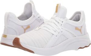 Women's Shoes PUMA SOFTRIDE SOPHIA GLOSS Athletic Sneakers 37611001 WHITE / GOLD