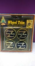 Vintage Datsun Z Wheel Trim Adhesive Backed Wheelcover Emblem - NOS - Set of 4