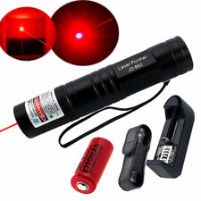 10Mile Red Laser Pointer 650nm Lazer Pen Light Beam Focus+16340 Charger+Battery