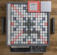 Winning Solutions Giant Scrabble Deluxe Designer Edition Rotating Game Board NEW