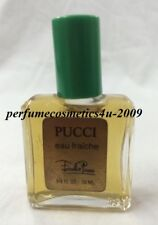 VINTAGE EMILIO PUCCI COLOGNE MINIATURE FOR MEN 1/3 OZ / 10 ML EAU FRAICHE DAB-ON