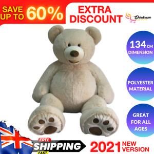 Plush Giant Teddy Bear 134 cm Cream Super Soft Huge Bear Oversized Cuddly Big