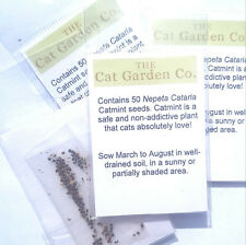 Catnip 100 & 200 Seeds Nepeta Cataria, Catmint Seed Packets