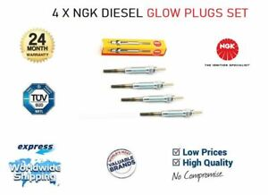 4x NGK GLOW PLUGS for RENAULT TRAFIC Bus 1.9 D 1997-2001