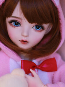 1/3 BJD Doll 60cm Ball Jointed Girl + Face Makeup + Eyes + Wigs + Clothes XMAS