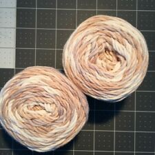 #7 Lot of 2 Peaches n Cream Yarn 190 yds 4 oz Total 100% Cotton Linen