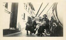 1920s Small Photo; Rev. Marquis Presbyterian Missionary Family on Ship Nenana AK