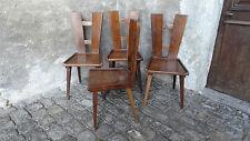 Série de 4 chaises bois design jacques henry LE MEME ? wooden chairs