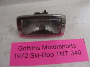 72 SKI DOO TNT 340 oem original headlight head light w bezel trim lens