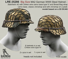 Live Resin 1/35 LRE-35286 Big Size M42 German WWII Steel Helmet (4)