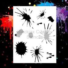 Blood Splatters Airbrush Stencil,Template