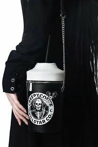 KILLSTAR Creepy Coffee Handbag Clutch Bag Purse Death Grim Reaper Gothic NWT