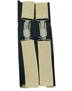 35mm ADJUSTABLE BRACES MENS WOMENS UNISEX TROUSER ELASTIC X- SUSPENDERS CLIPON