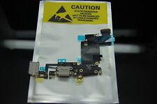 Nuevo iPhone 6s Plus De Carga Usb Cargador Puerto Dock Conector Cable Flexible Micrófono Gris