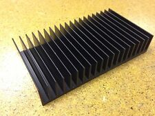 POWER HEATSINK 1.2 degC/watt Tall Fin Flat Base LED, Amplifiers Or PSU, anodised