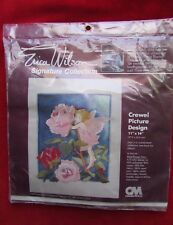 New listing 1980 Erica Wilson Signature Collection Rose Flower Fairy Crewel Kit #7169 Nos