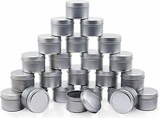 8-Oz Tin Candle Jar 24 Pack Round Containers For Arts & Craft, Storage & More
