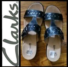 Clarks Black Studded Leather Lightweight Delana Sandals  ~ 11M M3020