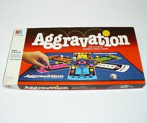 1989 AGGRAVATION BOARD GAME - MILTON BRADLEY - COMPLETE & NICE
