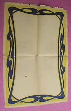 Original antikes Plakat 47 x 71 cm ist aus der Jugendstilzeit um 1900
