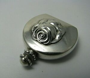 STERLING SILVER PERFUME BOTTLE SCENT FLASK by Ari D.Norman London England ca1977
