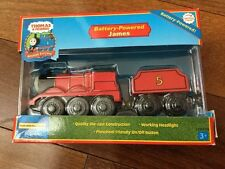 Thomas Train Wood Wooden Railway Battery Operated Motorized Learning Curve James