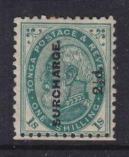 TONGA 1894 1SH DEFINITIVE MINT NO GUM SCOTT #24 CAT $65 AS LH