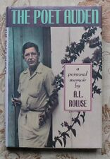 THE POET AUDEN: A Personal Memoir by A.L. Rowse HB/DJ 1st American Edition, 1988
