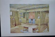 H.M BAILLIE SCOTT DESIGN CROWBOROUGH COLOURED LITHOGRAPHIC PRINT STUDIO MAGAZINE