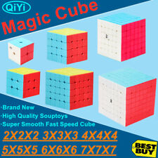 No Sticker Magic Cube Rubix Rubik Puzzle Super Smooth Fast Speed Cube 2-7 Level